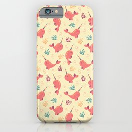To the Window to the Narwhal - Coral & Cream iPhone Case