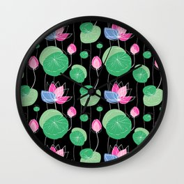 Japanese Flowers Wall Clock