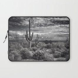 The Sonoran Desert in Black and White Laptop Sleeve