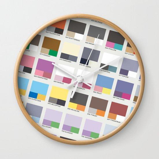 Poke-Pantone 6 (Kalos Region) Wall Clock
