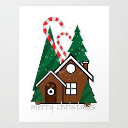 merry christmas vector illustration Art Print
