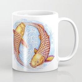 Pisces Fish Yin Yang Mandala Coffee Mug