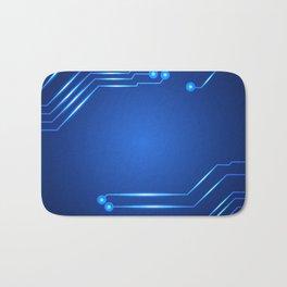 Hi tech circuit board. Bath Mat