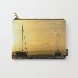Watercolor People in Nature, NSS, Sailboat 10, St John, USVI Carry-All Pouch
