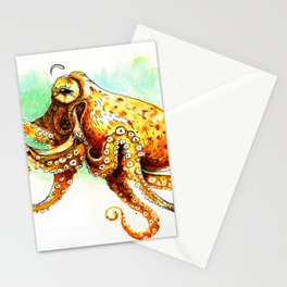 Octopuss Watercolor sketch Stationery Cards