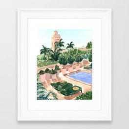 Moroccan Hotel Framed Art Print
