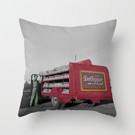 Vintage Dr Pepper Truck Throw Pillow
