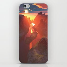 Sunset at the canyon iPhone Skin