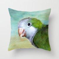 parrot Throw Pillows featuring Parrot by ThePhotoGuyDarren