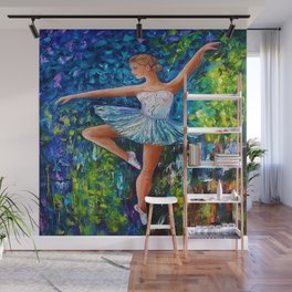 Dance In The Rain Of Color Wall Mural