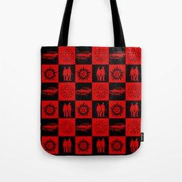 SPN Hunter Checkers Tote Bag
