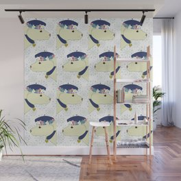 pattern with dogs with hats Wall Mural