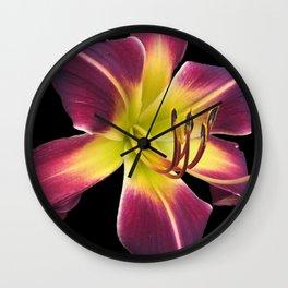Purple Lily Wall Clock