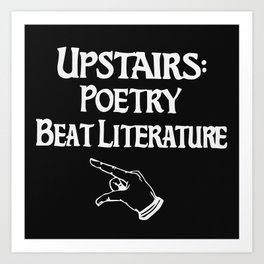 Poetry and Beat Generation Literature Art Print