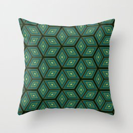 Cubed Geometrical Pattern Throw Pillow