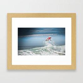 Julian Wilson Surfing  Framed Art Print