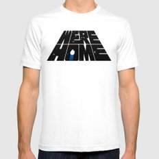 We're Home SMALL White Mens Fitted Tee