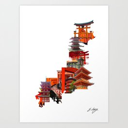 Structures That Shpaed Japan Art Print