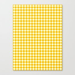 Cream Yellow and Amber Orange Diamonds Canvas Print