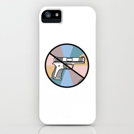 No Guns 1 iPhone Case