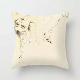 desnudas Throw Pillow