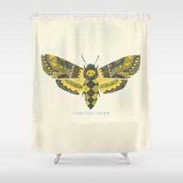 """""""Acherontia atropos"""" Moth Shower Curtain"""