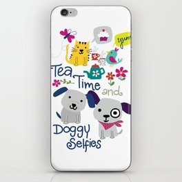 Tea Time and Doggy Selfies iPhone Skin