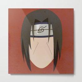 Itachi Uchiha Simplistic Face Metal Print