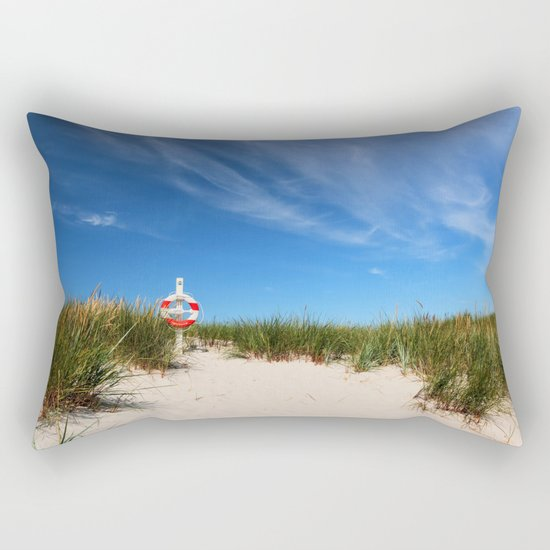 Dunes at the beach - summer holiday Island Outdoors Sea Ocean #Society6 Rectangular Pillow