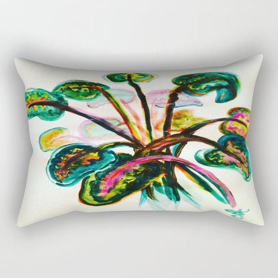 A Bouquet of Leaves Rectangular Pillow