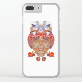 Inkdala XVI - Ink Blot Clear iPhone Case