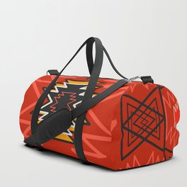Ethnic lines in red Duffle Bag