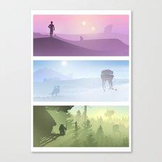 Planetscape Trilogy Canvas Print