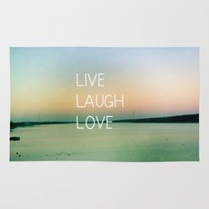 Live Laugh Love Rug