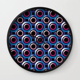 Repeating Overlapping Circles Pattern Wall Clock