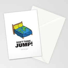Don't Think... Jump! Stationery Cards