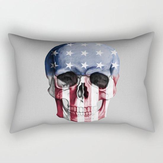 American Skull Rectangular Pillow