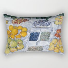 Gustave Caillebotte - Fruit Displayed on a Stand Rectangular Pillow