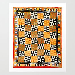 North Afghanistan Cotton Quilt Print Art Print