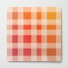 Red, Orange Plaid Metal Print
