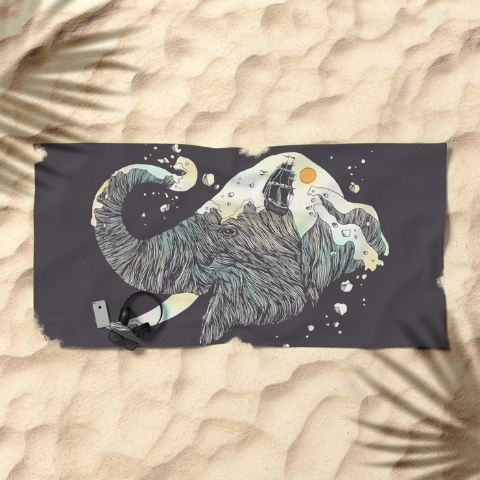 The Grey Gust and the Savage Sea Beach Towel