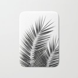 Black Palm Leaves Dream - Cali Summer Vibes #1 #tropical #decor #art #society6 Bath Mat