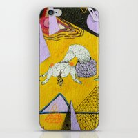 plain iPhone & iPod Skins featuring space plain by Kira Leigh