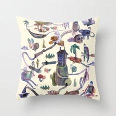 the big map Throw Pillow