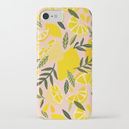 Lemon Blooms – Blush Palette iPhone Case