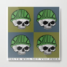 Skullz 1.3 Metal Print