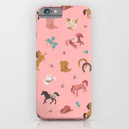 Prairie Flower Cowgirl iPhone Case