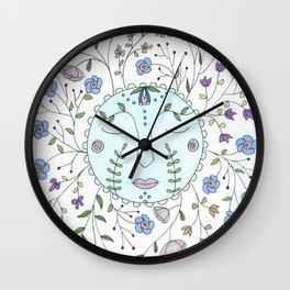 Chanson de la lune bleue Wall Clock