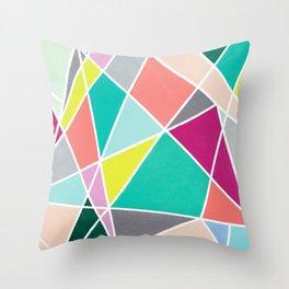 Geometric Spotlights Throw Pillow