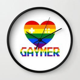GAYmer at Heart Wall Clock